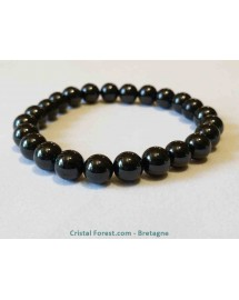Bracelet Spinelle noire - Boules 8 mm