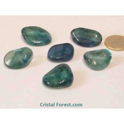 Fluorite (Fluorine) - Pierres roulées bleue/verte extra