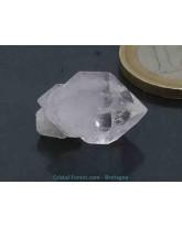 Cristal (quartz) diamant d'Herkimer brut