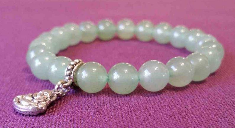 bracelet en aventurine verte conte le stress