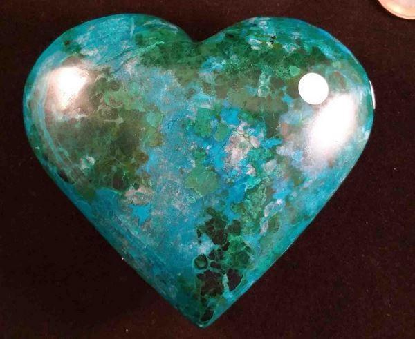 cœur chrysocolle pour combattre vos angoisses