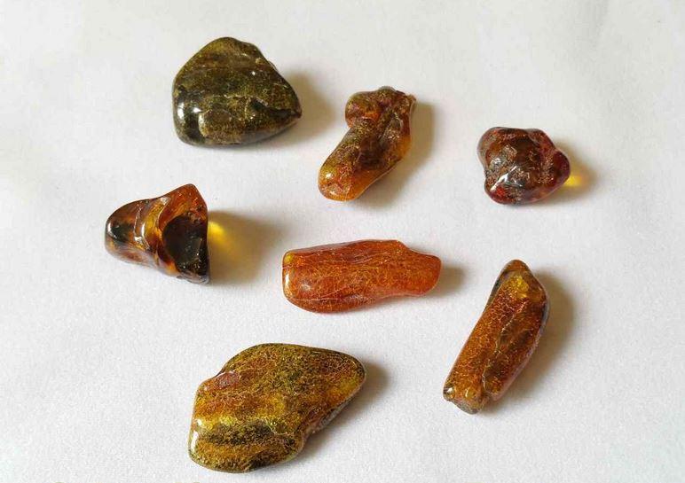 pierres roulées ambre contre le stress