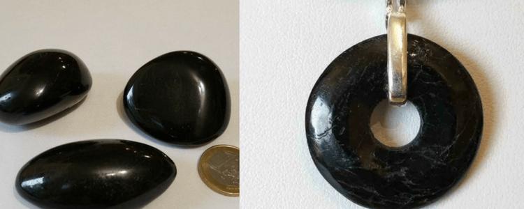tourmaline noire : galets et pierres